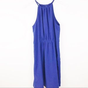 Zara Royal Blue Racer Back Mini Dress Zara basic